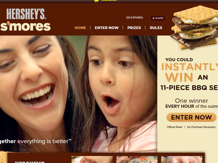 Hershey's Summer S'mores Grilling Instant-Win Game