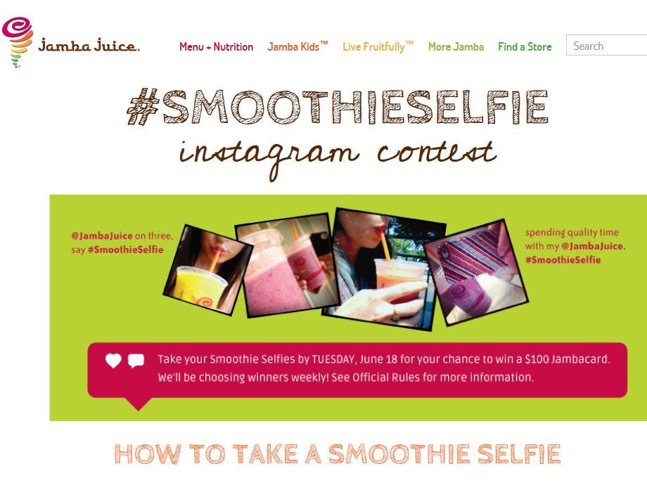 #SmoothieSelfie Instagram Contest