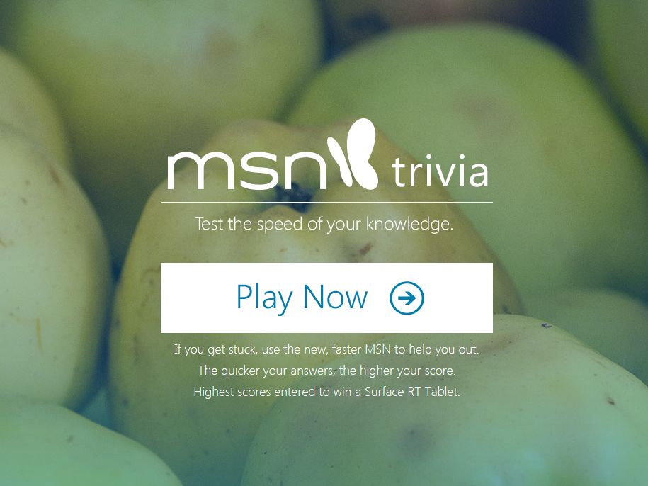 MSN Trivia Sweepstakes