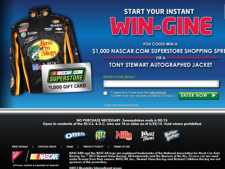 Nabisco NASCAR Instant Win Game