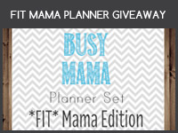 FIT MAMA PLANNER GIVEAWAY