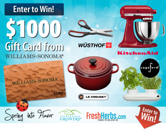 Gourmet Kitchen Tools Giveaway from FreshHerbs.com