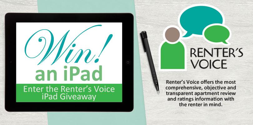 Renter's Voice iPad Giveaway