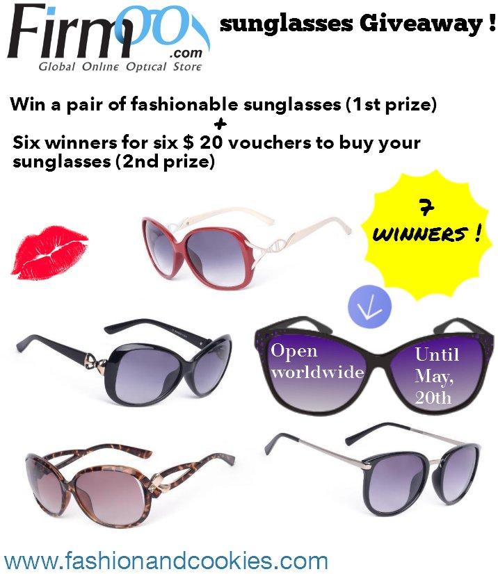 Firmoo Sunglasses Giveaway – worldwide – 5/20