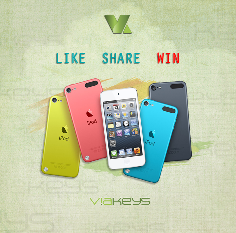 WIN an Apple iPod Touch 5th Generation this month from Viakeys