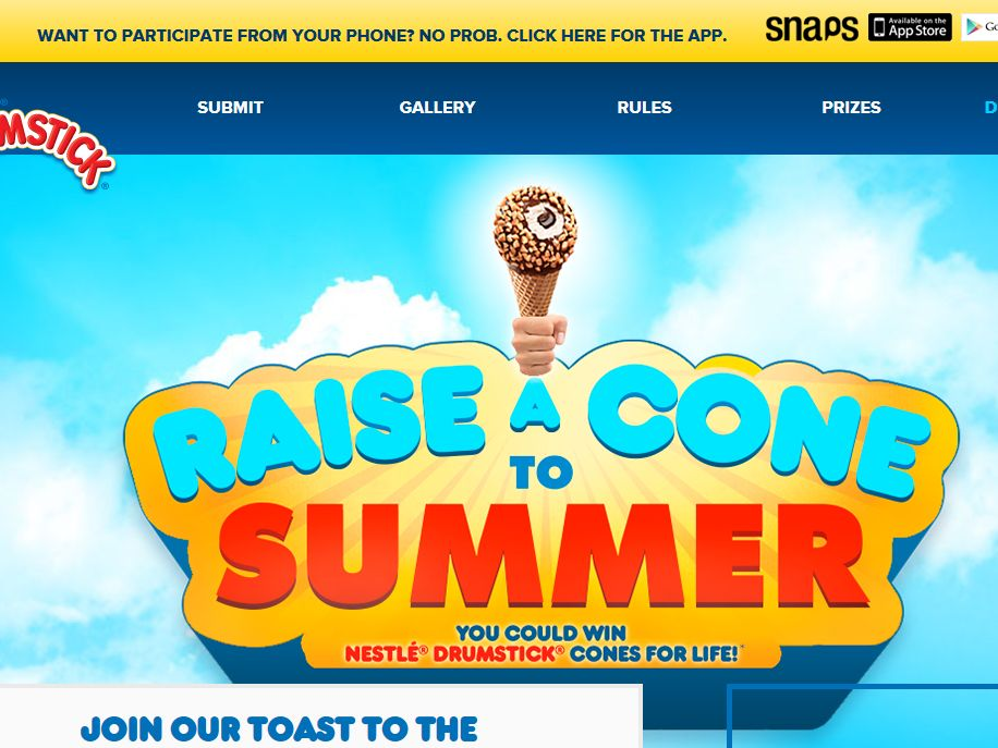 Drumstick Raise A Cone Sweepstakes