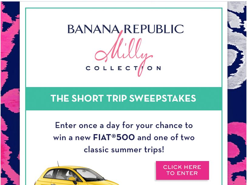 Banana Republic Milly Sweepstakes