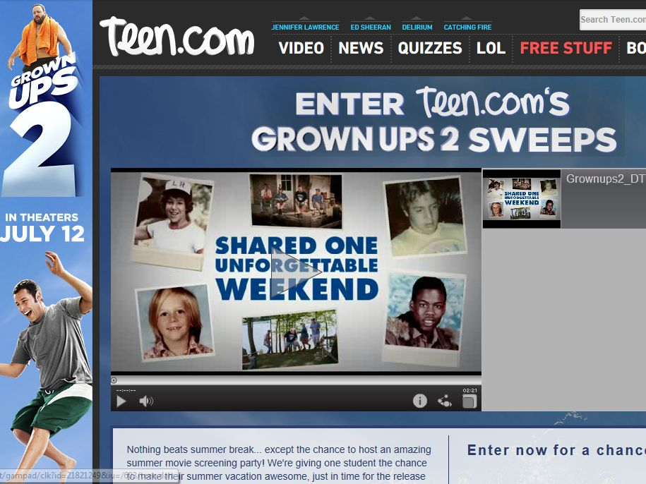 Grown Ups 2 Sweepstakes