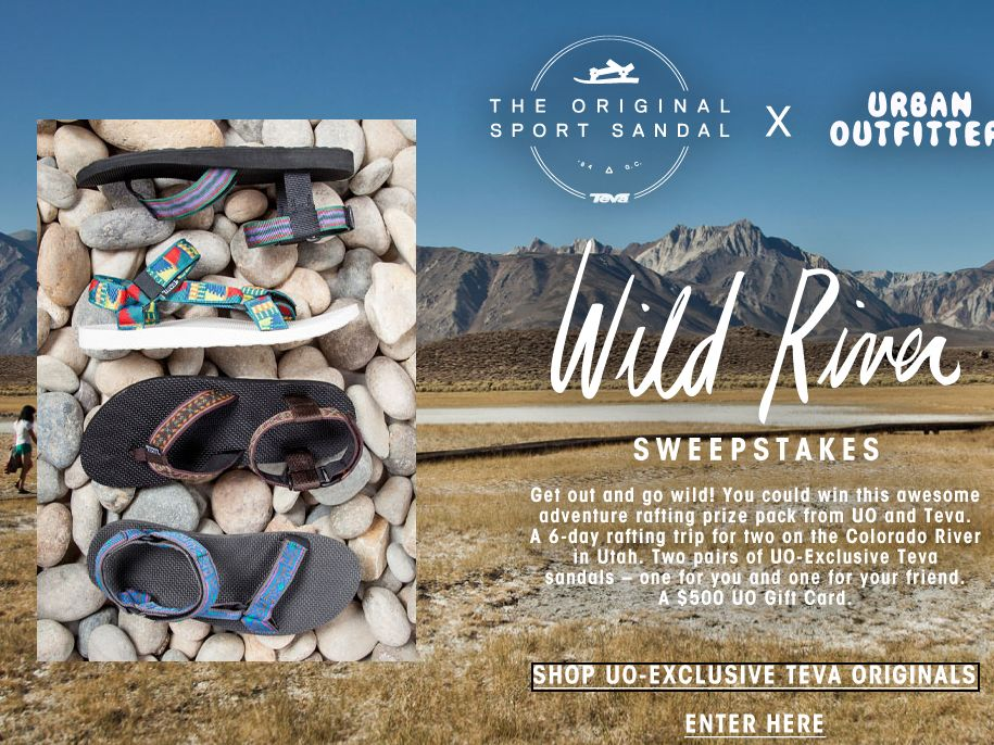 Urban Outfitters x Teva Wild River Sweepstakes