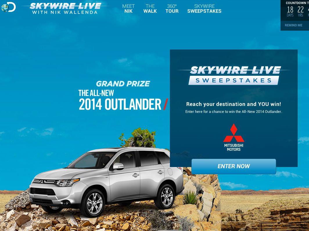 Discovery Channel's Skywire Live Sweepstakes