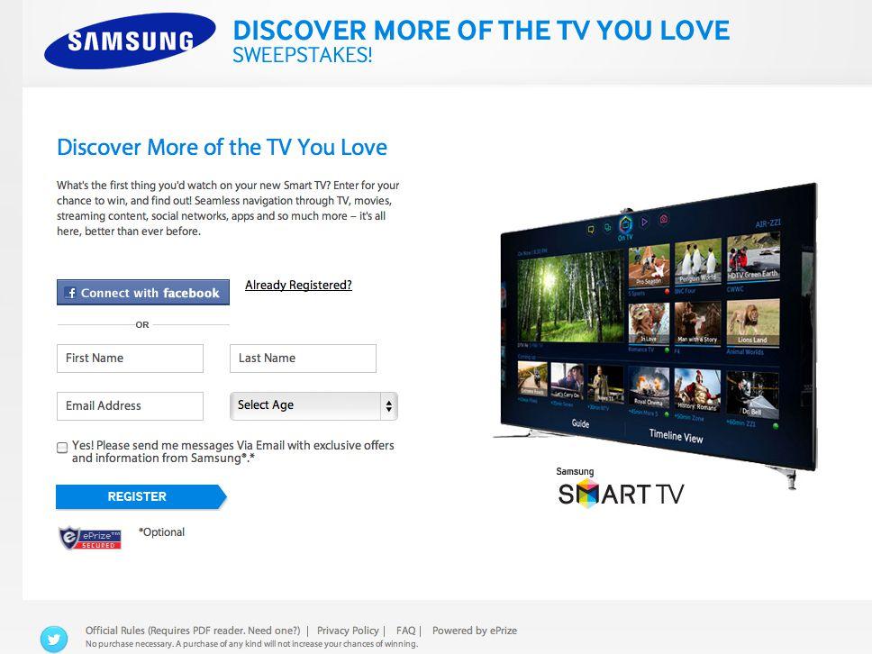 Samsung Smart TV Sweepstakes