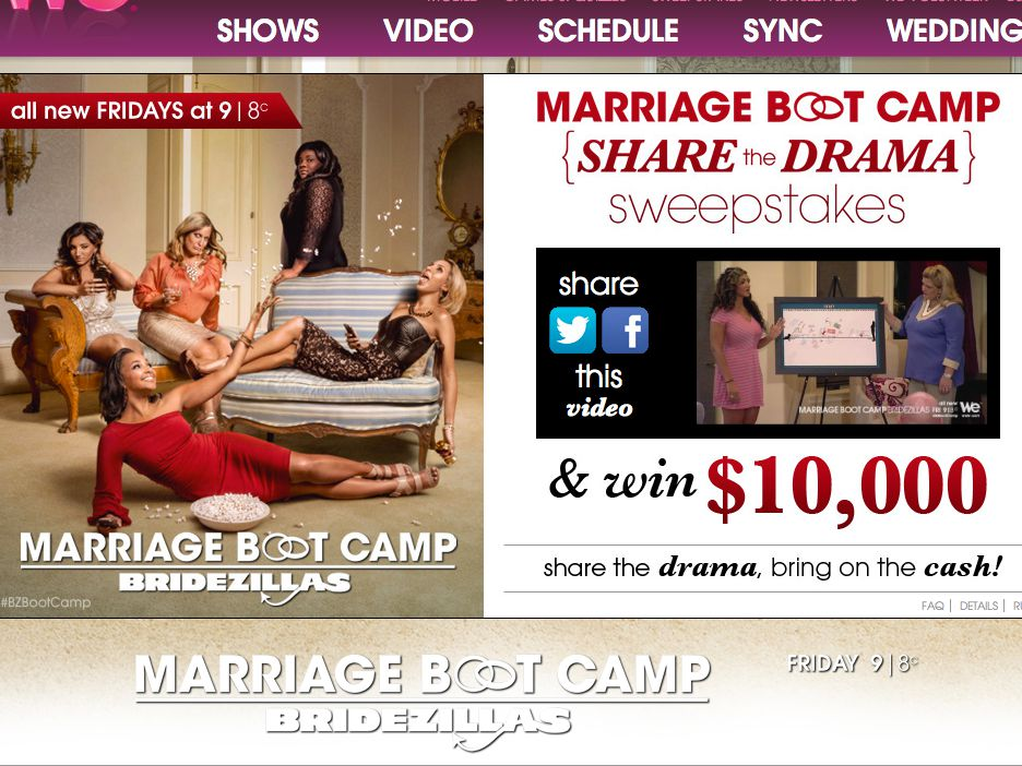WEtv The Marriage Boot Camp Share the Drama Sweepstakes