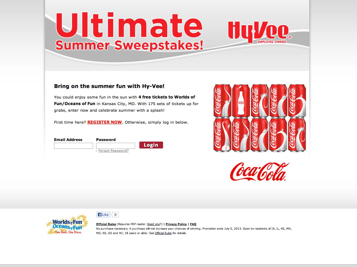 Coca-Cola & Hy-Vee Summer Sweepstakes (Limited States)