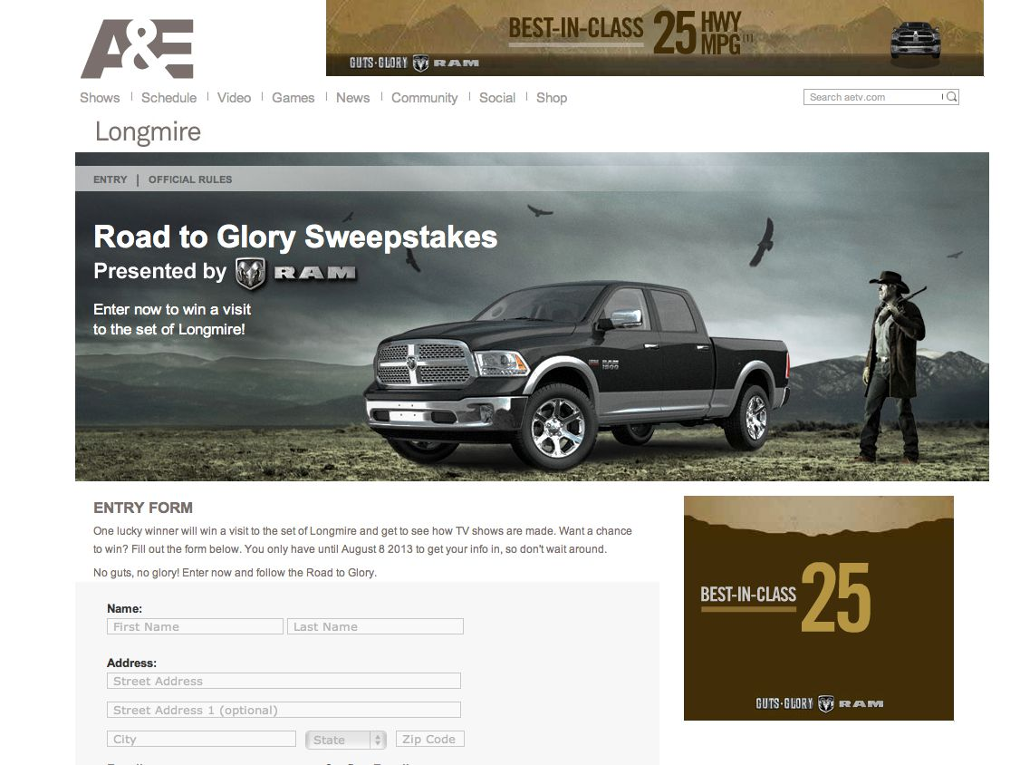 Road To Glory Sweepstakes