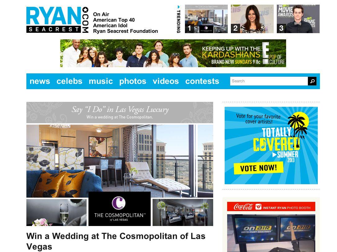 Ryan Seacrest's Ultimate Wedding at Cosmopolitan, Las Vegas Sweepstakes