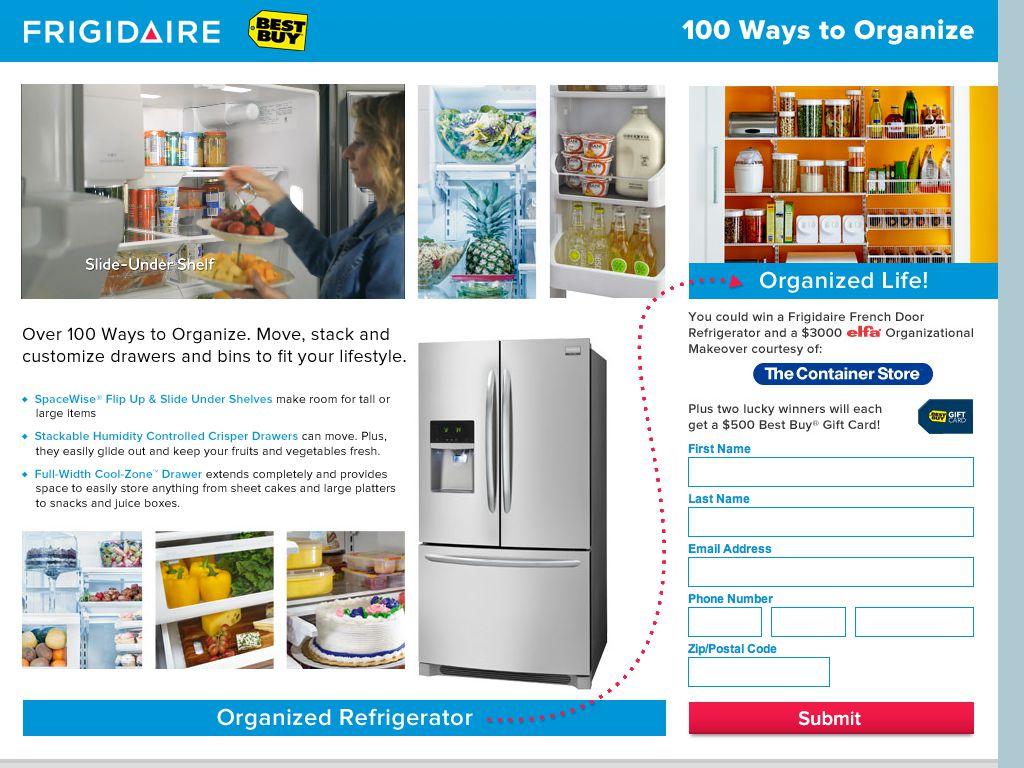 "Frigidaire ""Gallery French Door Refrigerator"" Sweepstakes"
