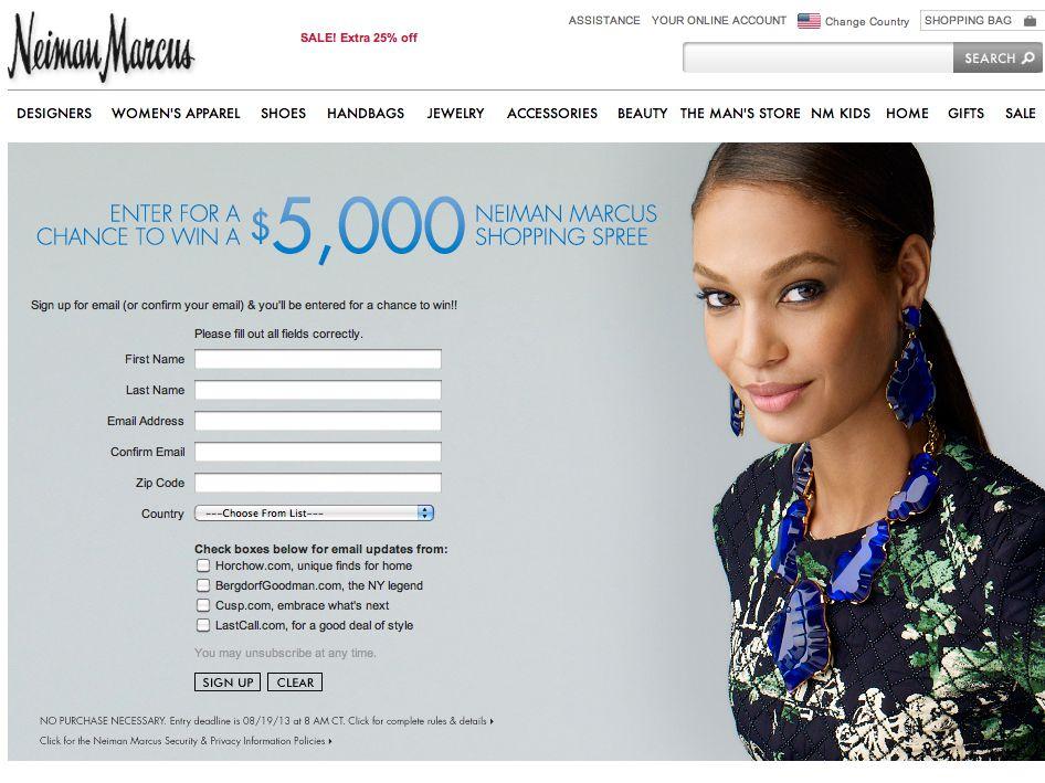 $5,000 Shopping Spree Sweepstakes on NeimanMarcus.com