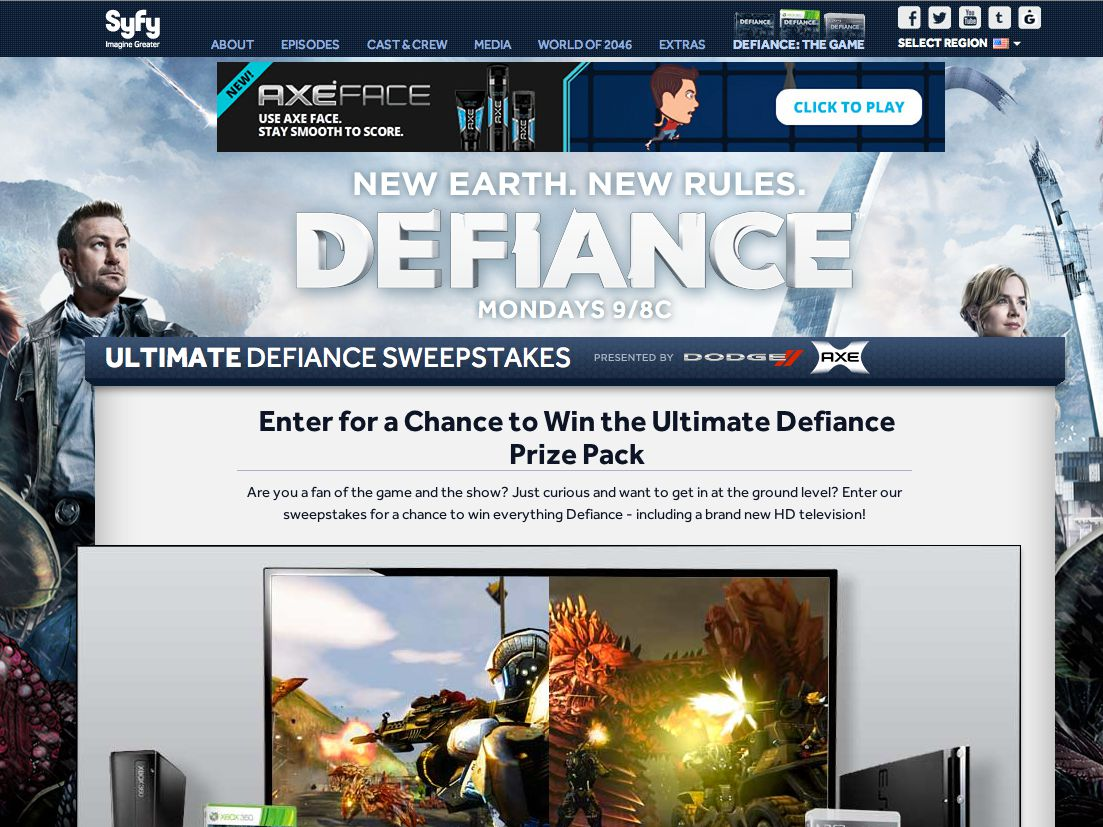 SyFy Ultimate Defiance Sweepstakes