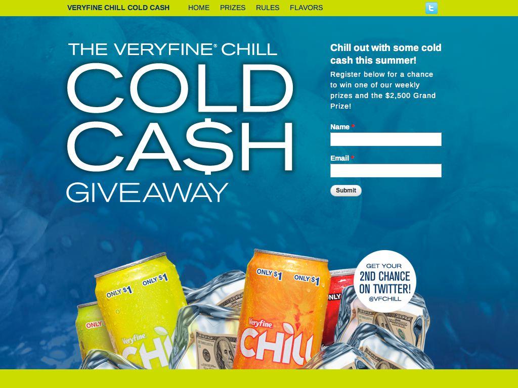 Veryfine® Cold Cash Sweepstakes