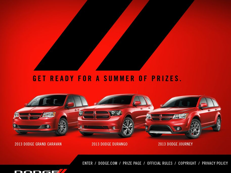 Dodge Game and Go Sweepstakes