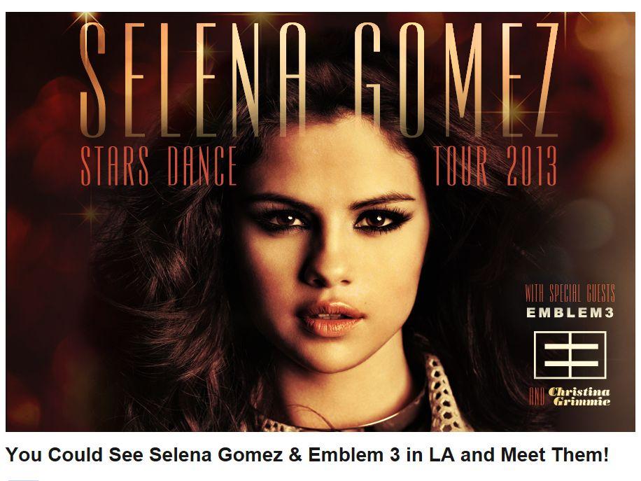Ryan Seacrest's Selena Gomez Flyaway Sweepstakes