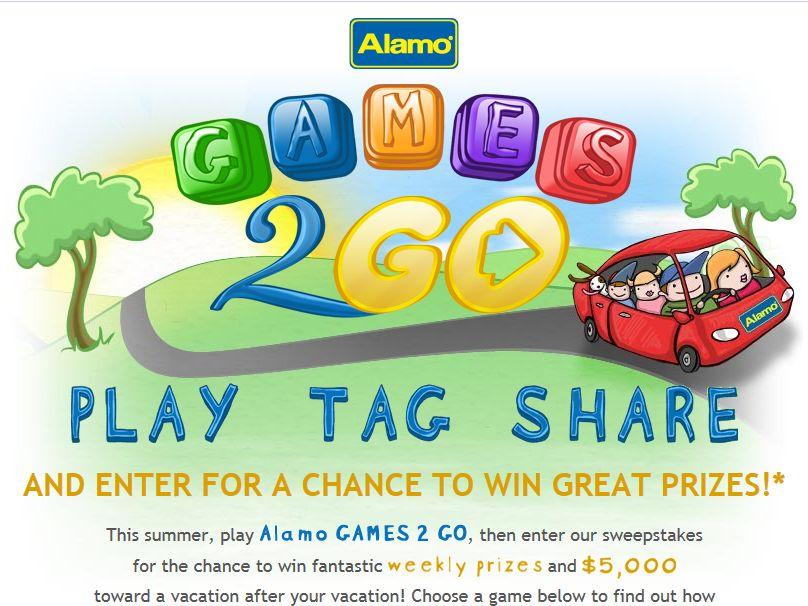 Alamo Games 2 Go Sweepstakes
