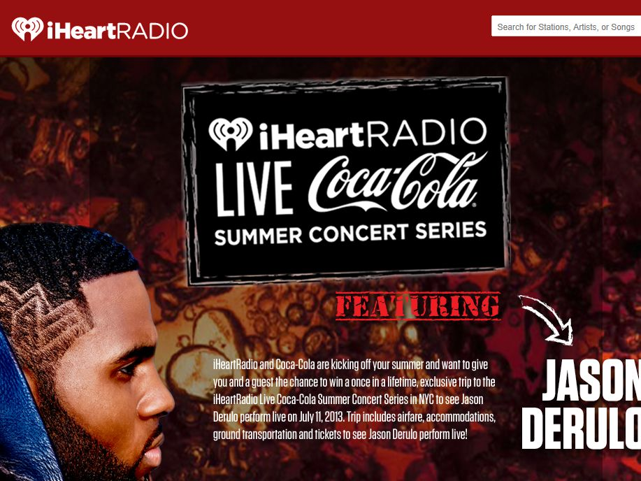 iHeartRadio Live Coca-Cola Summer Concert Sweepstakes