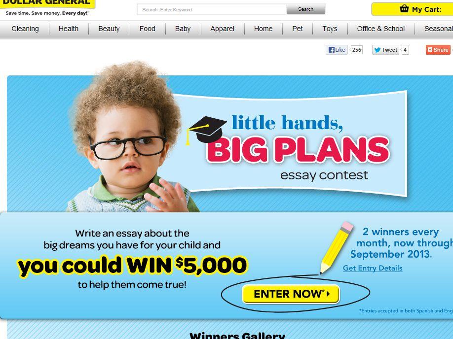 Little Hands, Big Plans Contest