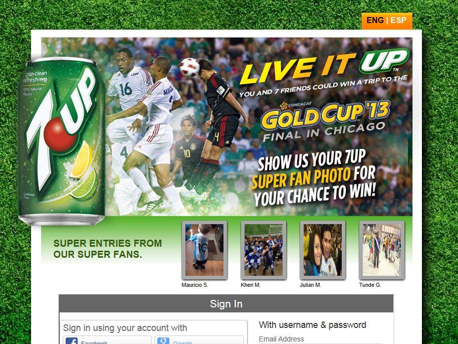 2013 7UP Super Fan Trip Online Contest