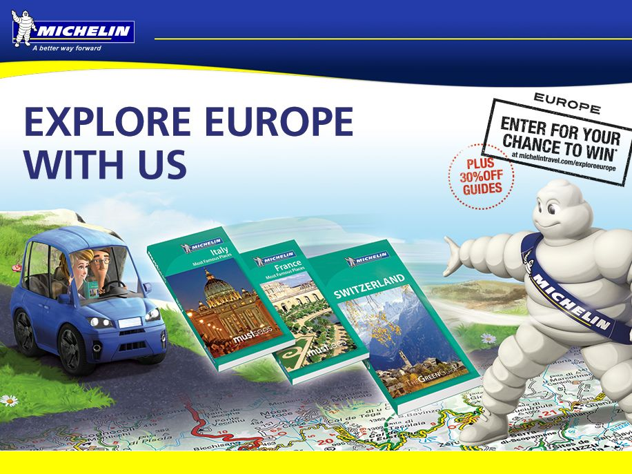 Explore Europe with Michelin Sweepstakes