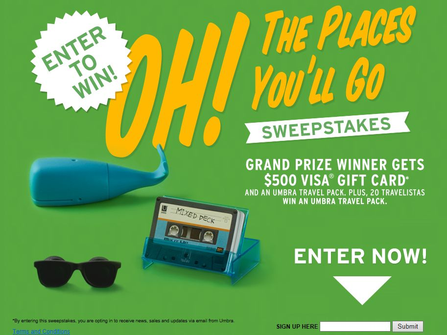 Oh! The Places You'll Go Sweepstakes