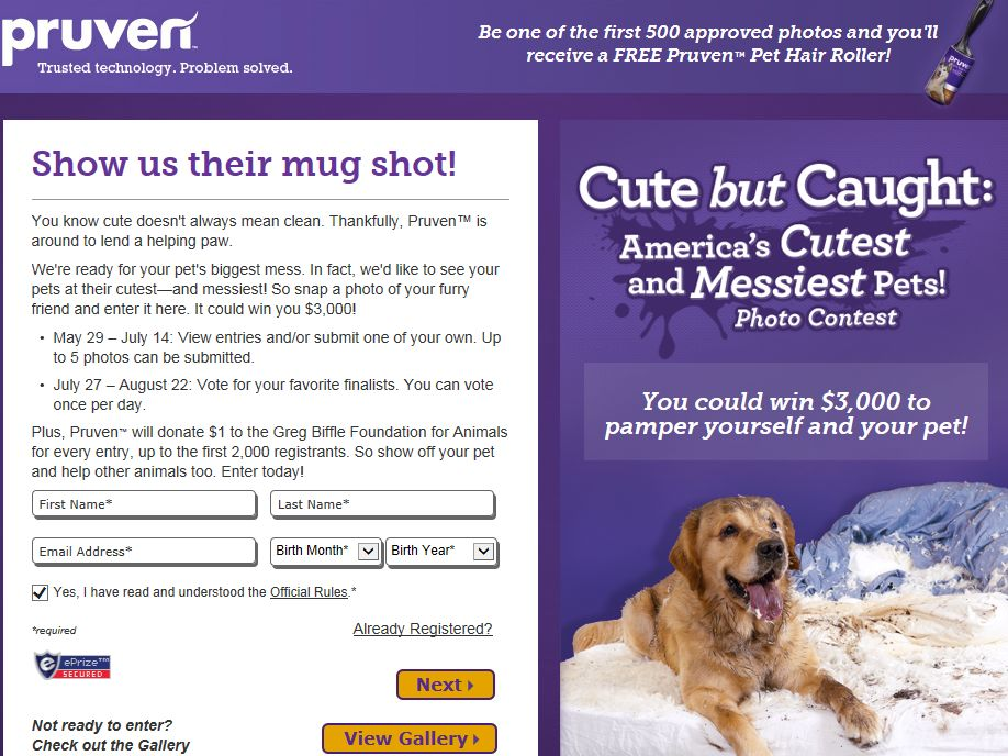 Cute But Caught: America's Cutest & Messiest Pets Sweepstakes