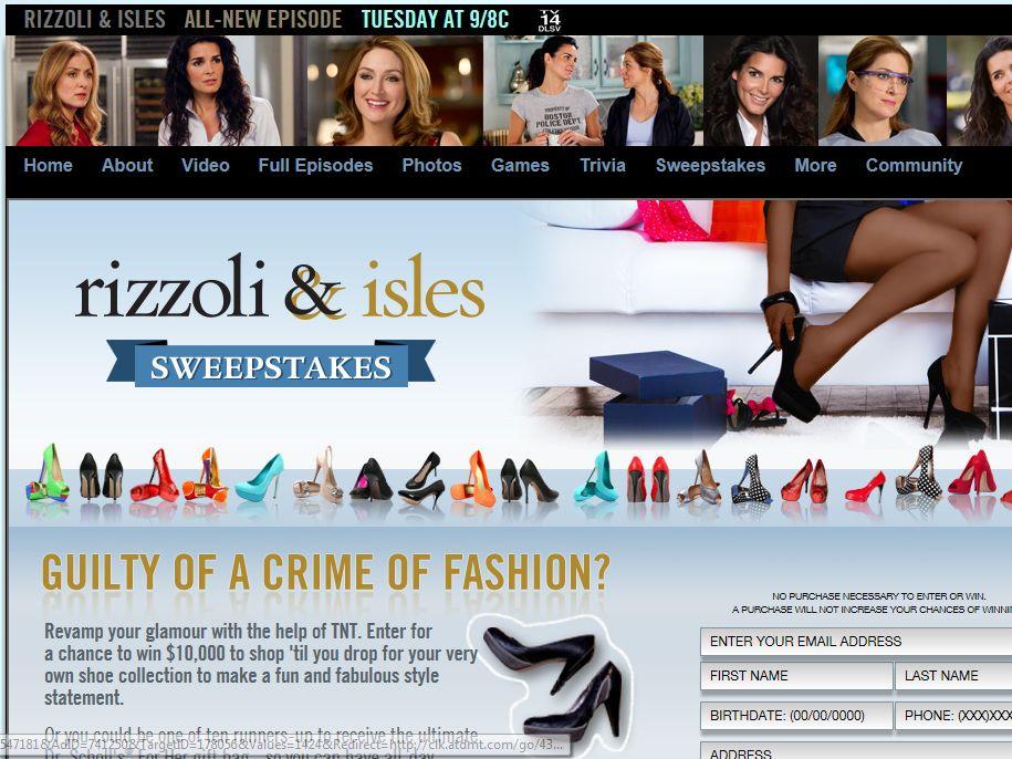 Rizzoli & Isles Sweepstakes