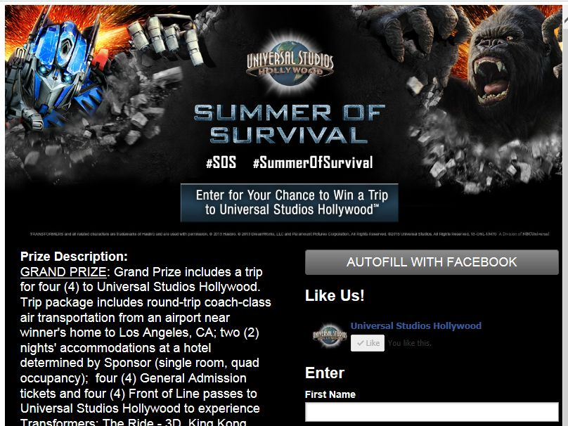 #SOS Summer of Survival Sweepstakes