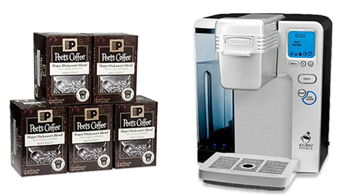 Cuisinart Single Cup Brewer and 50 Peet's Single Cups Giveaway (Ends 7/19)