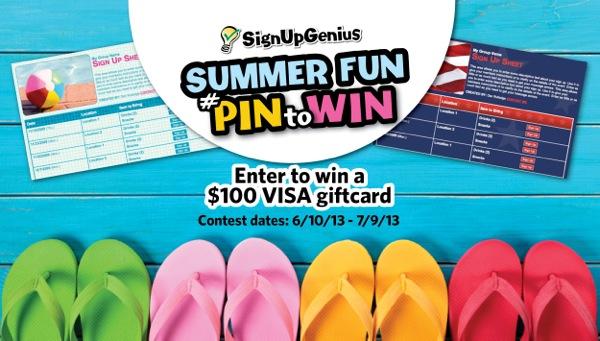 SignUpGenius Summer Fun #PinToWin