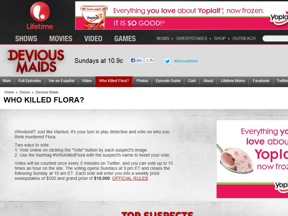 "Devious Maids ""Who Killed Flora?"" Sweepstakes"