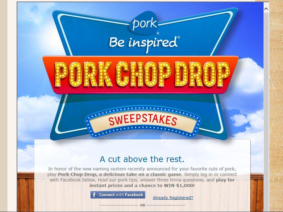 Pork Chop Drop Sweepstakes