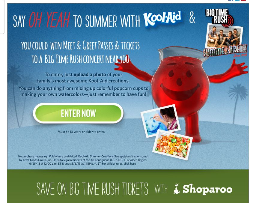 Kool-Aid Summer Creations Sweepstakes