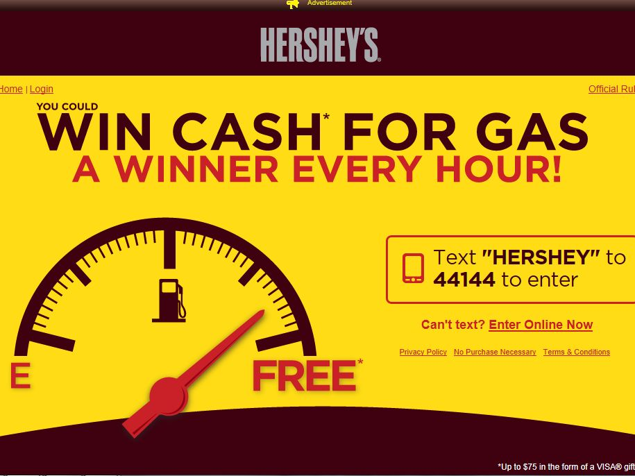 Hershey's Summer 2013 Gas Instant-Win Game