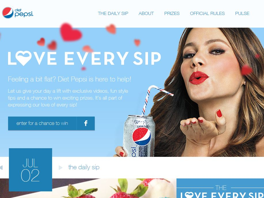 Diet Pepsi Love Every Sip Instant Win Game