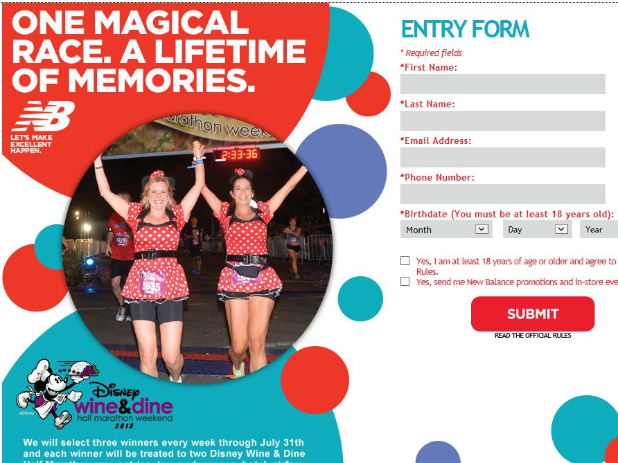 One Magical Race with New Balance Sweepstakes