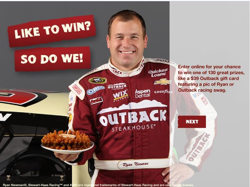 """Outback Steakhouse """"Like to Win"""" Sweepstakes"""