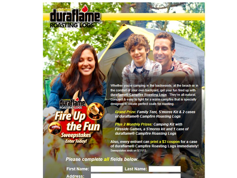 duraflame Fire Up The Fun Sweepstakes