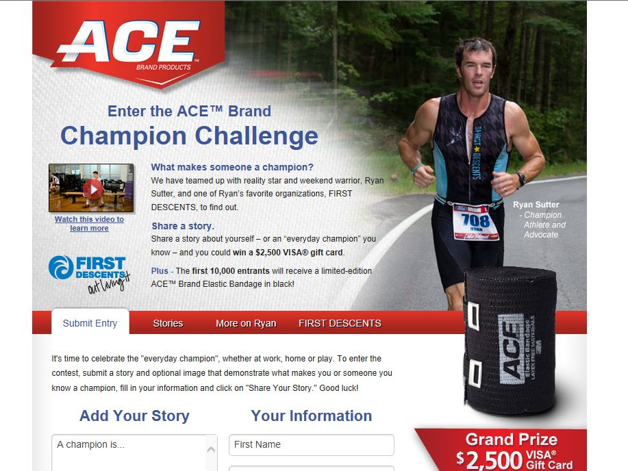 ACE Brand Champion Challenge Sweepstakes