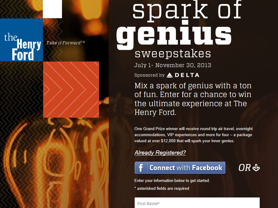 The Henry Ford Spark of Genius Sweepstakes