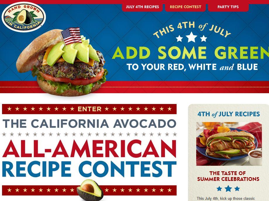 California Avocado All American Recipe Contest