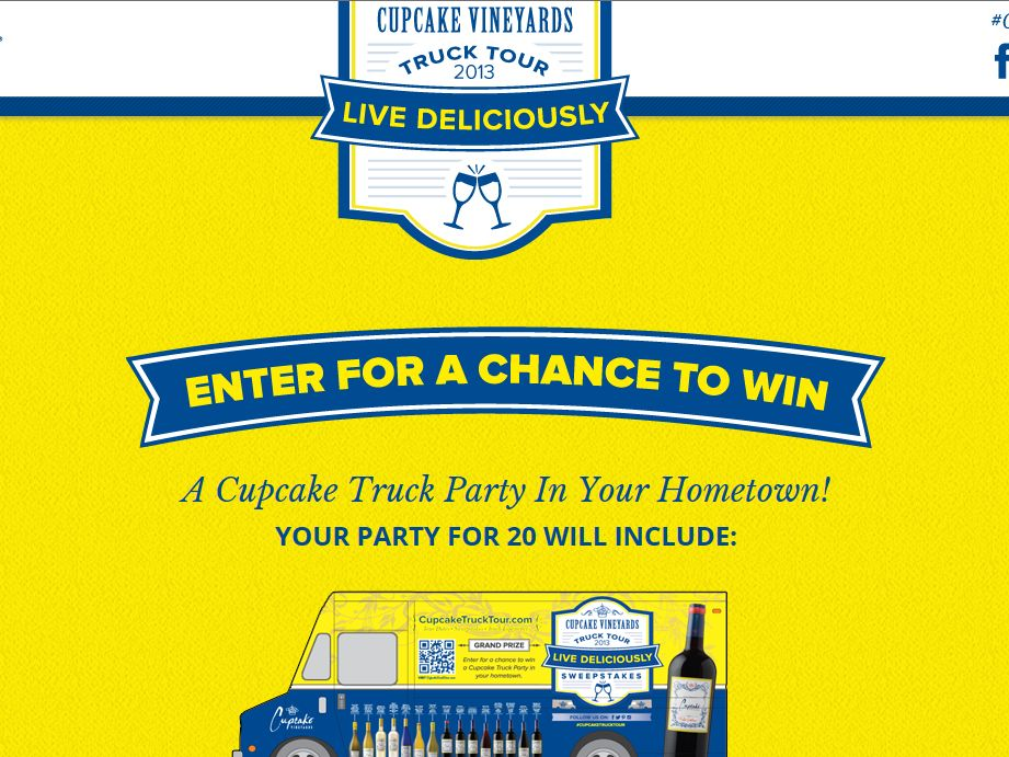 Cupcake Vineyards Live Deliciously Sweepstakes