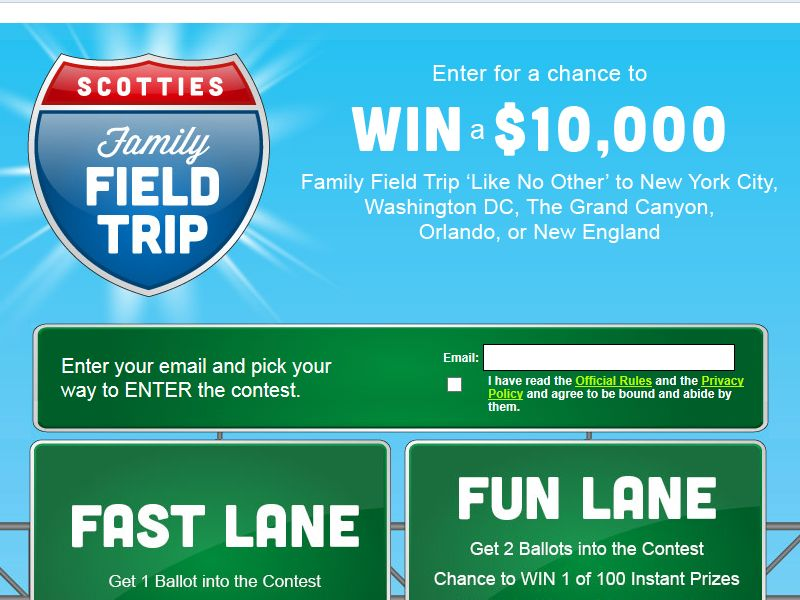 SCOTTIES Family Field Trip Sweepstakes