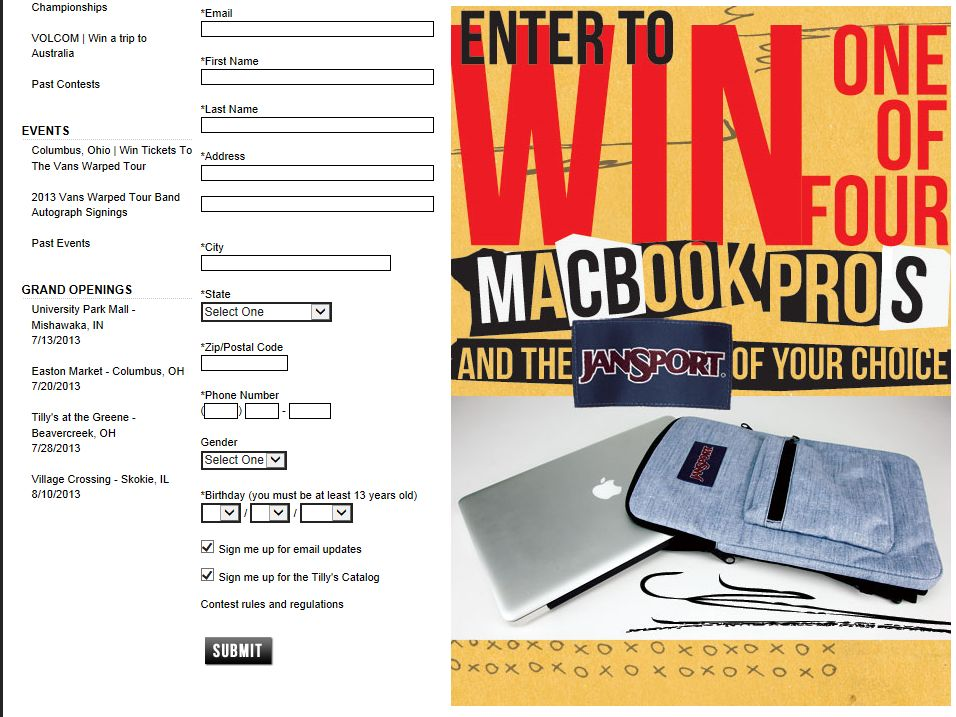 Win A MacBook Pro Sweepstakes